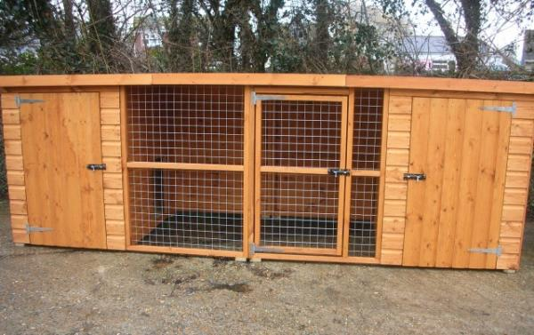 Wilton Double Dog Kennel And Run