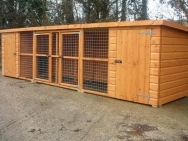 double dog kennel with divider