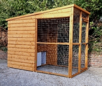 insulated dog kennel and run