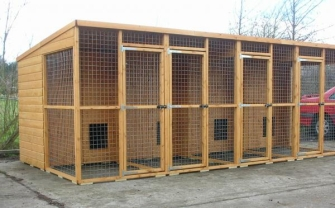 Dog kennel blocks