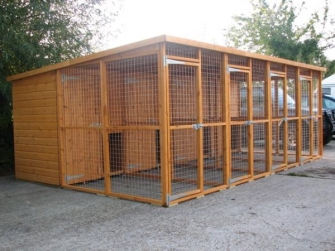 dog kennel and run blocks