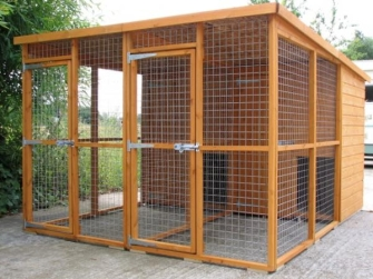 Avon double dog kennel and run